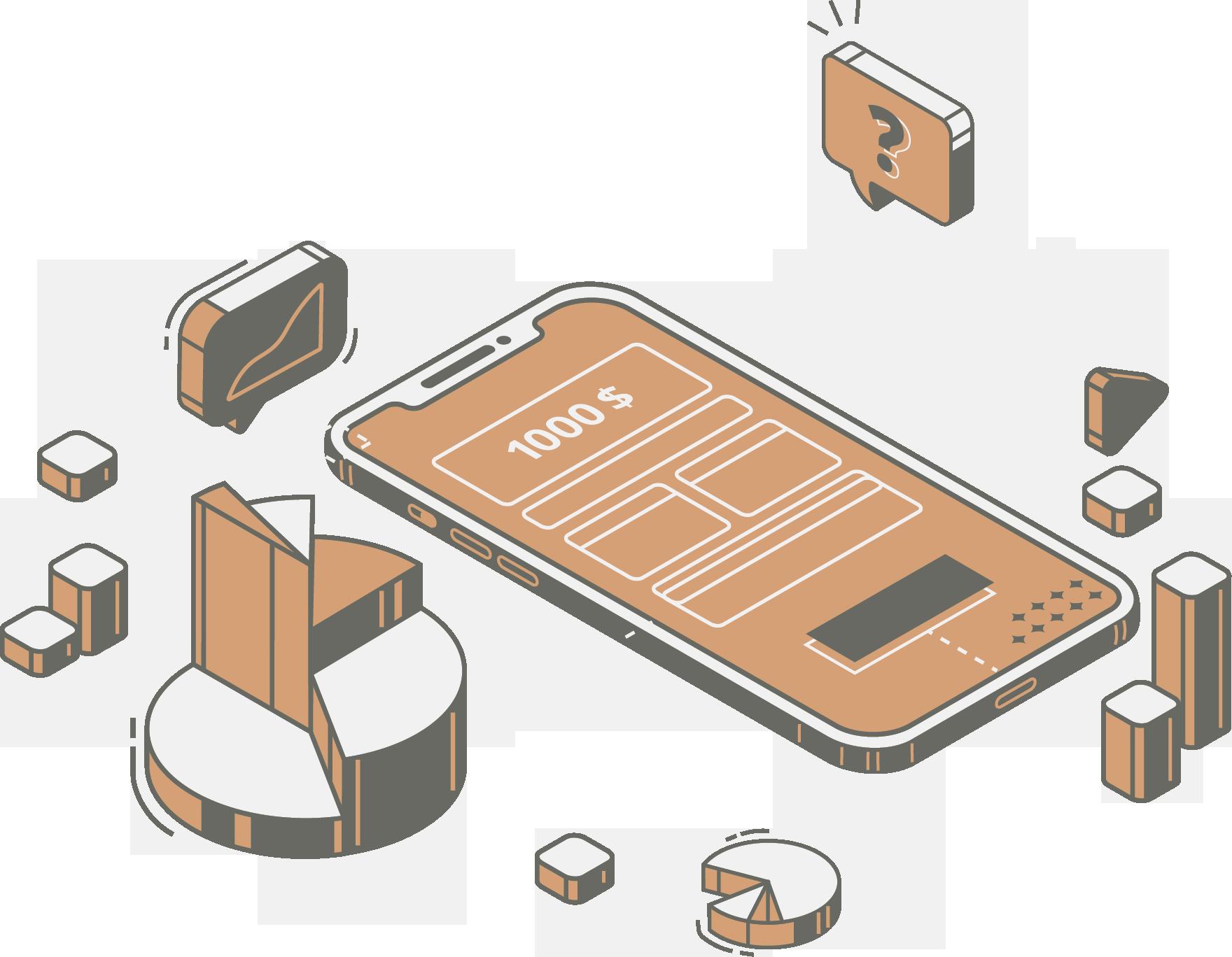 gestão de celulares corporativos icone laranja